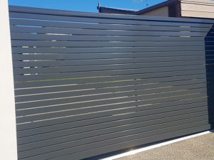 Slatted Electric Gate